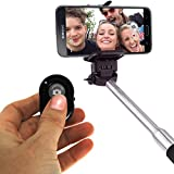 Tushars Selfie Stick Monopod Extendable Selfie Handheld Stick With Adjustable Phone Holder And Bluetooth Wireless...