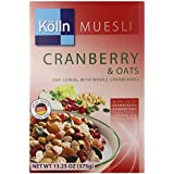 Kolln Cereals Muesli, Cranberry And Oats, 13.23 Ounce (Pack Of 7)