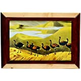 Just Frames Hand Carved Antique Wooden Wall Hanging Photo Frame | Size : 8 X 12 Inch | Product Code : JF101-4
