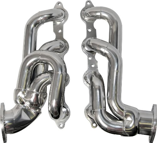 BBK 40200 1-3/4″ Shorty Tuned Length Performance Exhaust Headers for Camaro SS, LS3, L99 – Polished Silver Ceramic Finish