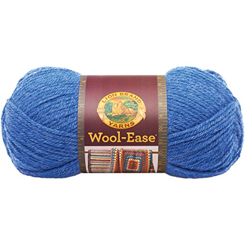 Lion Brand Yarn 620-107A Wool-Ease Yarn, Blue Heather