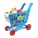 Bingone Mini Shopping Cart Pretend Play Toy Set For Kids, Blue