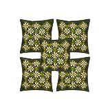 Rajrang Brown Cotton Patch Work Cushion Cover Set Of 5 Pcs #Ccs00335