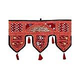 Decorative Toran Maroon Cotton Floral Patch Work Toran For Décor By Rajrang