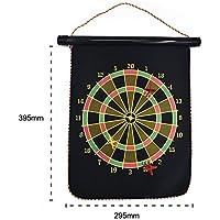 Dart Board Set,Double Side Flocking Magnetic Dartboard,Adult Children Safety Dart Toys
