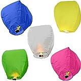 Multicolor Paper Sky Lantern Pack Of 5