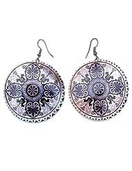 16.90 Grams Multi Color Print Shell Earrings