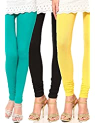Castle Women's Leggings (Pack Of 3) (Multi_Free Size) - B00RBN4DQQ