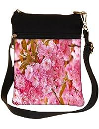 Snoogg Unique Flowers Cross Body Tote Bag / Shoulder Sling Carry Bag