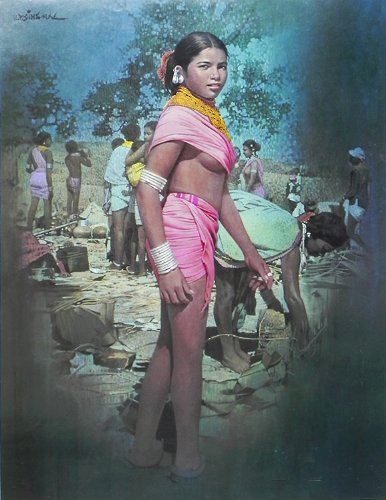 "Dolls Of India ""A Tribal Girl"" Reprint On Paper - Unframed (71.12 X 55.88 Centimeters)"