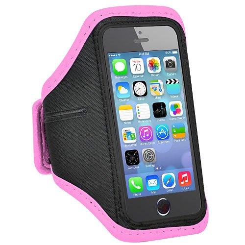 アームバンド iphone5/5S/5C ジョギング スポーツ ジム ランニング アームバンドケース 【並行輸入】 (ピンク)