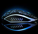 MMR Gaming Mouse, 6 programable button, up to 2500 DPI with 4 DPI Levels,Gaming Game Mouse Mice Wired LED for PC Laptop Blue Dotted