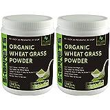 SHARRETS ORGANIC WHEAT GRASS POWDER 200.(No Color, No Preservative, No Sugar ) COMBO OF 2