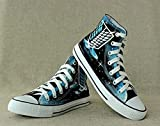 Attack on Titan Shingeki No Kyojin Cosplay Shoes Canvas Shoes Hand-painted Shoes Starry Sky