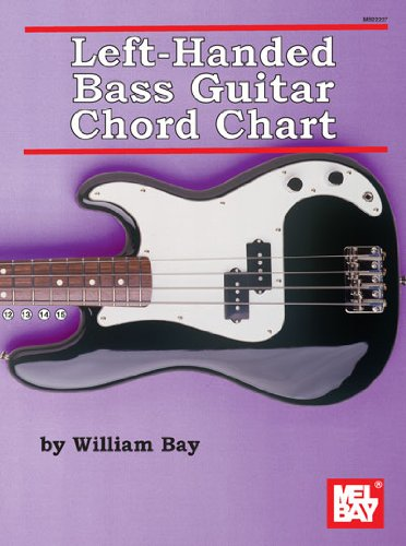 Left-Handed Bass Guitar Chord Chart by William Bay