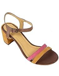 Salt N Pepper Women 14-146WENDYYELLOWFUSCHIA Yellow Sandals