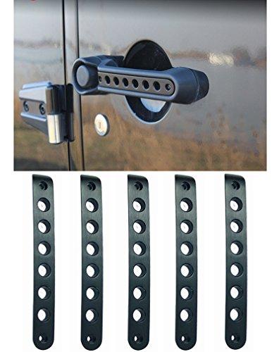 E-cowlboy Front Door & Back Door Aluminum Grab Handle Cover For 2007 – 2016 Jeep Wrangler JK & Unlimited 4 Door 5pcs/set (Black)
