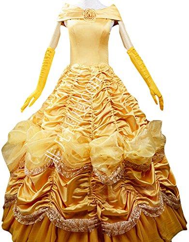 Halloween 2017 Disney Costumes Plus Size & Standard Women's Costume Characters - Women's Costume Characters Women's Halloween Deluxe Bell Costume Outfit Princess Fancy Dress (XS-3X)
