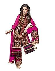 Trendz Apparels Pink 60 Gm Georgette Straight Cut Salwar Suit - B012I8SDYG