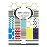 Shopaholic A4 Size Sports & Stripes Printed Paper - 10 Designs 30 Sheets - Craft Paper For Card And Scrap Booking-SSSA4...
