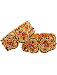Valentine Gifts : Zeneme Valentine Day Special Designer Gold Plated Bangles Jewellery For Women / Girls | Valentine...