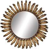 "Deco 79 54475 Metal Wall Mirror, 33"" X 33"""