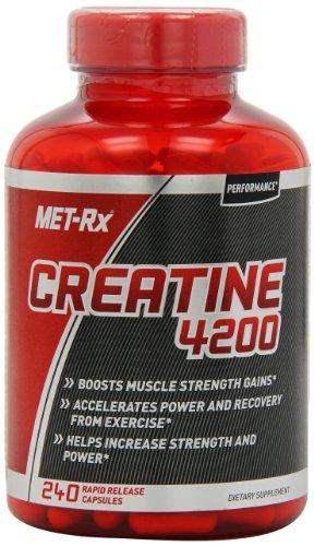 MET-Rx Creatine 4200 Diet Supplement Capsules, 240 Count