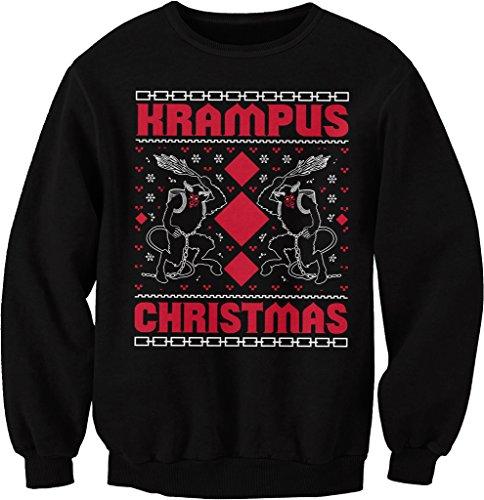 Krampus Christmas - Ugly Christmas Sweater - SWEAT SHIRT - Black, XX-Large