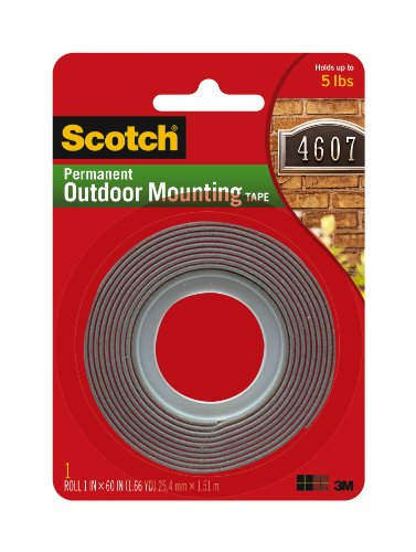 Top mounting tape double sided foam
