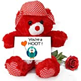 TiedRibbons® Valentine Gift For Husband Teddy Bear With Valentine's Special Greeting Card And Red Rose