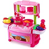 Toys Bhoomi Dream Kitchen Interactive Little Chef Kids Simulation Cookware Play Set With Light & Sound - B0731JHK2N