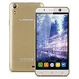 "Landvo XM100 - Smartphone Libre Android 5.1 (Quad Core, Pantalla 5.0"", IPS 960*540 HD, 1GB RAM, 8GB ROM, Cámara 5.0MP, Dual SIM, GPS, Smart Gesto) Dorado"