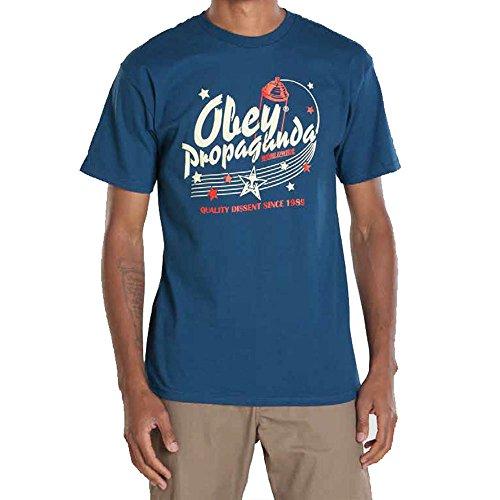 Obey Vintage Vandal Tee Patrol Blue Blue S