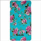 Intex Aqua Power - Silicon Floral Phone Cover
