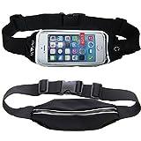 Mivortex Running Belt Waist Pack Outdoor Sweatproof Reflective Bag For IPhone 6, 6S, 6+, 6S Samsung Galaxy S5,...