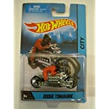 2014 Hot Wheels Hw City Dodge Tomahawk Motorcycle With Rider Silver Die-cast Collectible, Collectible Motorcycle