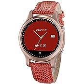 YEMON Smart Watch Circular Touch Screen As A Gift LADY Wristwatch PU Leather Mtk6572 Dual Core Smart Watch For...