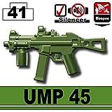 UMP 45 (Tank Green) - LEGO Compatible Minifigure Piece