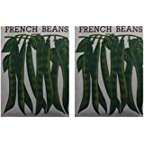 Naga Agency French Beans Seeds Combo Pack (Off-White, Pack Of 2 X 50 Grams)