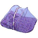 Jack & Jill Baby Mosquito Net Bedding Set Baby Bed Baby Mattress With Zip Purple - M