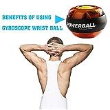 TTLIFE Powerball Armtrainer Handtrainer Essential Spinner Gyroskopische Handgelenk und Unterarm Exerciser Handverletzung Trainingsgerät (Orange) -