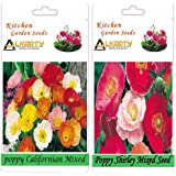 Alkarty Poppy Californian Mixed And Poppy Shirley Mixed Seeds Pack Of 20 (Winter)