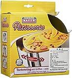 KAISER Tortenring mit Griffen ø 16,5 x 32 cm 9 cm Pâtisserie individuelle Größeneinstellung extra hoher Rand spühlmaschinenfest