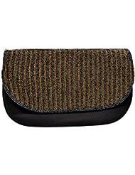 Revolution Black & Gold Clutch Handbag