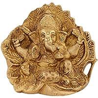 Mahadev Handicrafts Gold Painted Lord Ganesha Idol Designer Glossy