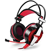 Flyox KOTION EACH GS700 3.5mm Gaming Game Headset Headphone Earphone Headband With Mic Stereo Bass LED Light For...