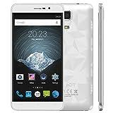 "CUBOT Z100 - Smartphone 4G LTE ( Android 5.1, 5.0 ""HD OGS IPS 1280 * 720, Capítulo del Metal, 64Bit MTK6735, 1.0GHz Quad Core 1GB + 16GB Tarjeta SIM Dual 13.0MP CNC OTG HOTKNOT)"