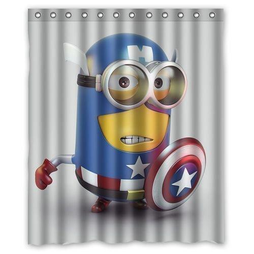 Captain minion despicable me Shower Curtain