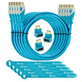 Aurum Pro Series - Pack Of 5 High Speed HDMI Cable (6 Ft) With Ethernet - Supports 3D & Audio Return Channel [...