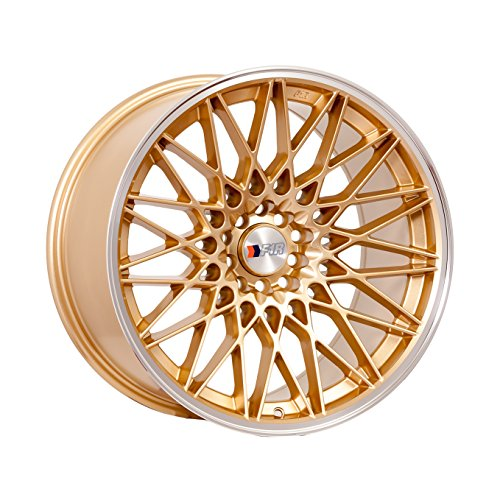 F1R F23 17 Gold Wheel / Rim 5×100 & 5×4.5 with a 35mm Offset and a 73.1 Hub Bore. Partnumber F231785G35